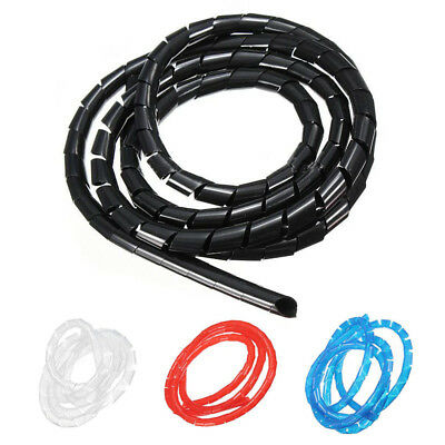 Spiral Wire Wrap Tube Manage Cord for PC Computer Cable 6-60mm, 2M Black K5G5