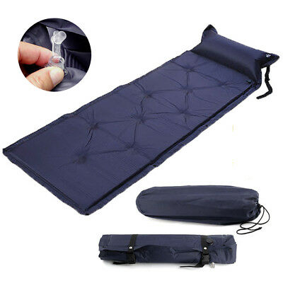 Single Self Inflatable Mat Moisture Proof Outdoor Camping Hiking Mattress Bed