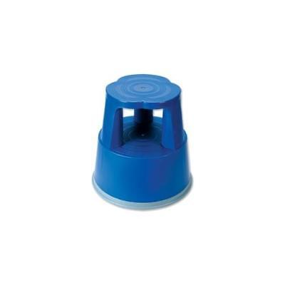 T7 RelX Step Stool Mobile Plastic Lightweight Strong Top W29xH43xBaseW40cm Blue