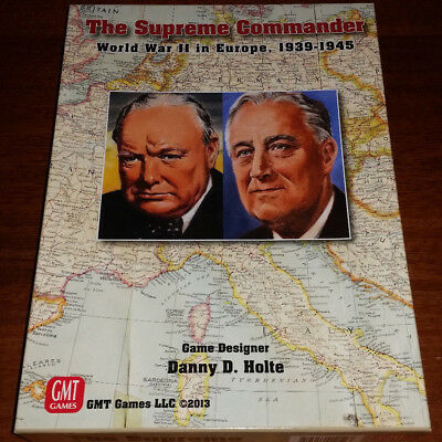"WWII in Europe War Game: The Supreme Commander - GMT Games ""VERY NICE"""