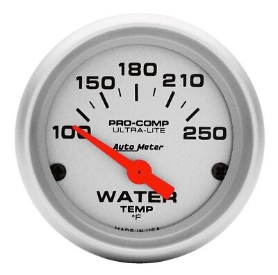 Auto Meter Water Temperature Gauge Pro Comp Ultra-Lite Air Core Movement  #4337