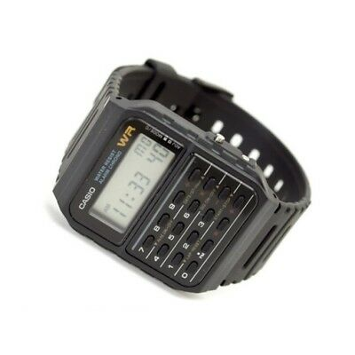 Casio CA-53W-1Z Databank Digital Calculator Black Resin Band Quartz Alarm Watch