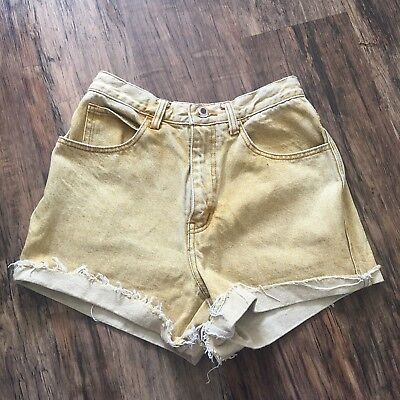 Vintage Yellow High Waisted Shorts