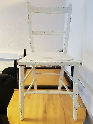 Antique Edwardian chair, mahogany painted white,  clearance item