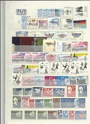 Scandinavia 1970s mint stamps selection