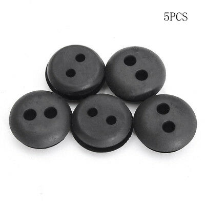 5x 2 Hole 25mm Fuel Gas Tank Line Grommet Replacement Fit for Trimmer Lawn Mower