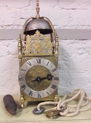 INTERESTING ANTIQUE LANTERN CLOCK 'Jos.Knibb Londini Fecit'-NO RESERVE!!!