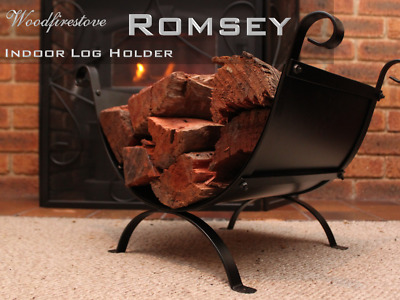 ROMSEY  Indoor Log Rack / FIRE WOOD Storage / WOOD HOLDER Fireplace Accessories