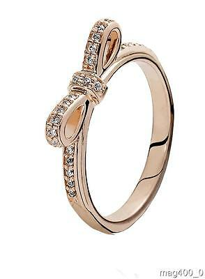 Pandora Rose Bow Ring 180906Cz Size 56 New Authentic