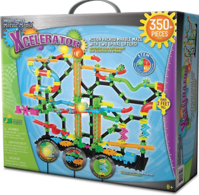 Techno Gears Marble Mania Xcelerator Construction Set LED 350 Pieces