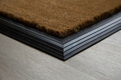 BEST Natural Coir Entrance Mat With Rubber Edge Various Sizes UK Floor Mat
