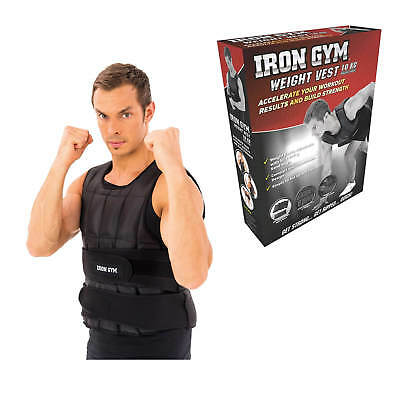 Iron Gym Weighted Vest 10kg Adjustable Weight Lifting Jacket Running Training
