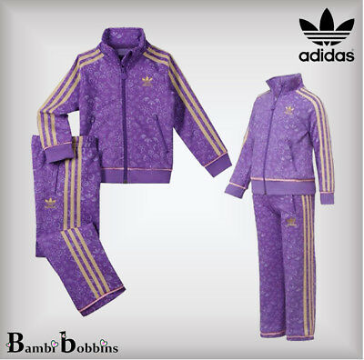 Adidas Orig Girls Disney Firebird Tracksuit Jacket Bottoms 4-5-6-7-8-9-10 Years