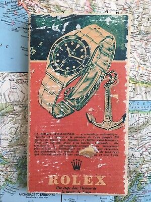 Rolex Vintage 6538 submariner ad Art  Distressed design for home decor