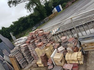 9 inch red or black  quarry tiles