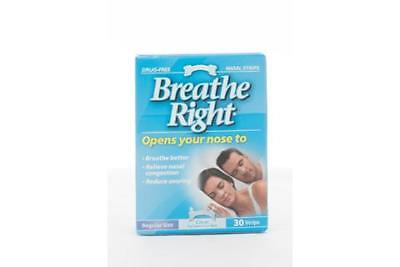 Breathe Right Nasal Strips 30 Clear, Regular Size