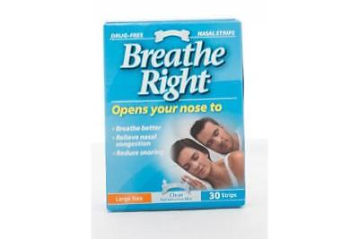 Breathe Right Clear Large Nasal Strips 30 PK