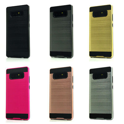 Lot/6 Brushed Finish Hybrid Case for Samsung Galaxy Note 8 Wholesale