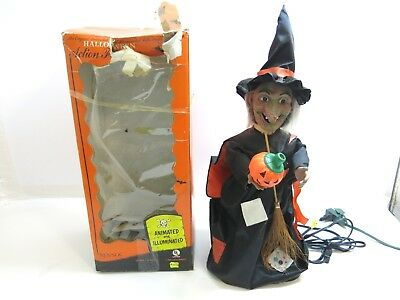"""Vintage Rennoc Halloween 24"""" Animated Light Up Witch With Box 04-75-22"""