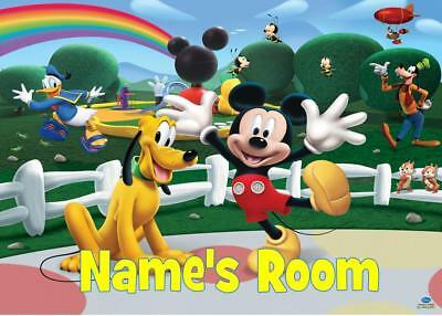 Mickey Clubhouse  Personalised Door Plaque - 3 Types Acrylic/Laminate/Wooden