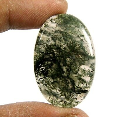 44.90 cts Designer Natural Oval Moss Agate Beautiful Loose Cabcohon Gemstone