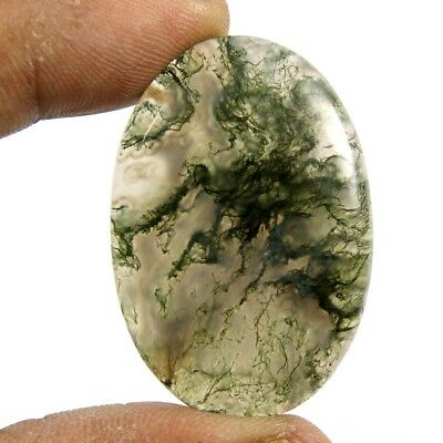 67.55 cts Designer Natural Oval Moss Agate Beautiful Loose Cabcohon Gemstone
