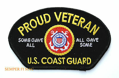 Us Coast Guard Proud Veteran Hat Patch Some Gave All... All Gave Some Pin Up Wow