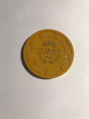 Dunes Hotel Card Room 50 Cent Collectable Casino Chip