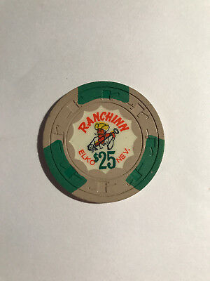 Ranching $25 Collectable Casino Chip - Elko Nev