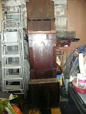 Antique Grandfather Clock  Incomplete Case For Restoration.