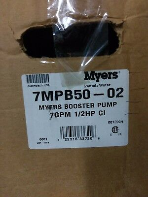 Myers 7mpb50-02 Booster Pump