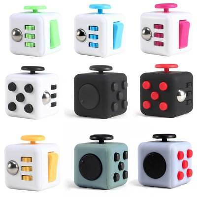 Fidget Toy Cube Relieves Stress & Anxiety for Children Adults Vinyl Desk 6 Sided