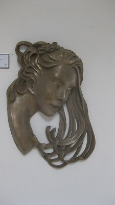 cold cast bronze head. original sculpture