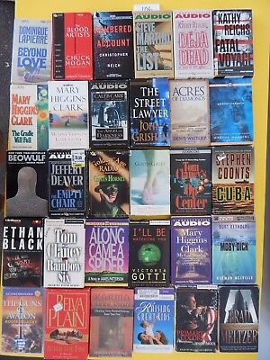 Lot of 30 Mixed Audio Books on Cassettes. L106
