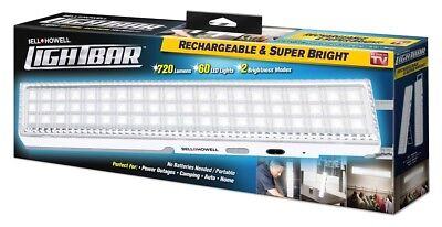 Bell + Howell Lightbar -Super Bright 60 LEDs in Rechargeable Bar -As Seen on TV!
