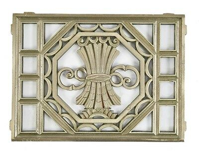 Depression-Era Nickel-Plated Stock Exchange Bldg Cast Bronze Ventilation Grille