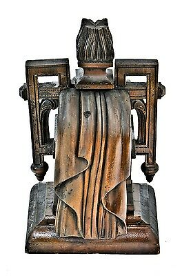 """19th Century Hard-Carved """"Eternal Flame"""" Wooden Finial from A Horse-Drawn Hearse"""