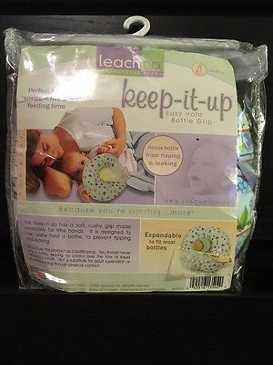 Leech Co keep-it-up |Easy Hold Bottle Grip|Keeps Bottle from tipping and leaking