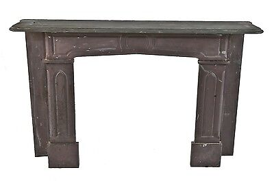 1870's Gothic Slate Fireplace Mantel