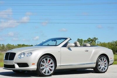 2014 Bentley Continental Flying Spur GTC V8 Convertible 2-Door 2014 BENTLEY GT V8-S CONVERTIBLE - RARE WHITE SAND -MULLINER-LOADED WITH OPTIONS
