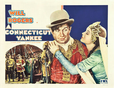A Connecticut Yankee UNSIGNED poster photo -K2182- Will Rogers & William Farnum