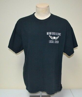 Used Mumford & Sons Local Crew Tour Concert T-Shirt Adult Extra Large Xl
