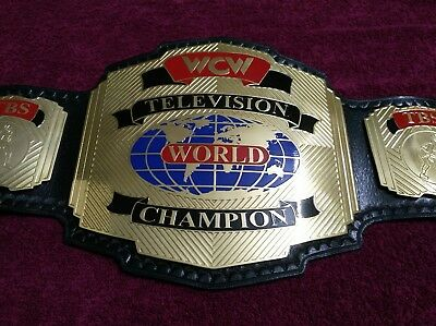 Wcw Television/tv Championship Replica Belt In Thick Brass Plates!!