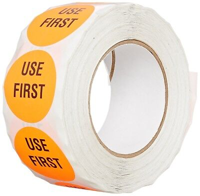"""TapeCase Red """"Use First"""" Inventory Control Label - 1000 per pack (1 Pack)"""