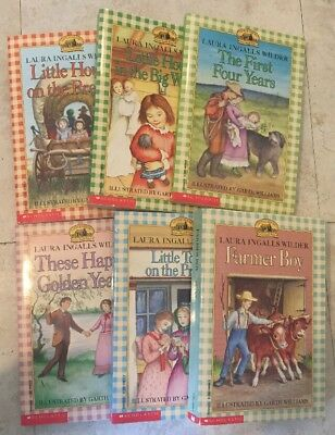 Lot Of 6 Laura Ingalls Wilder Little House On The Prairie Classic Fiction Books