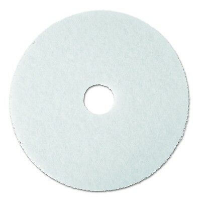 "3M White Super Polish Pad 4100 20"" Floor Pad Machine Use (Case of 5) 20 inches"