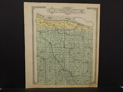 Missouri Cooper County Map Saline Boonville Clark Fork Township 1915 J16#89