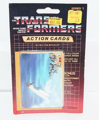 Optimus Prime Sealed Pack Card #133 Transformers Trading Action Cards 1985 G1