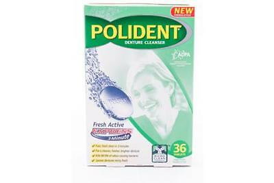 Polident Denture Cleanser 36 Tablets Fresh Active Express