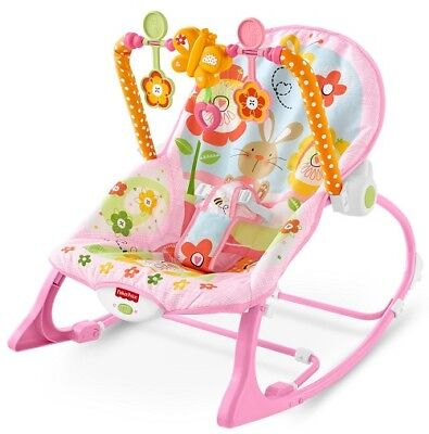 Girls Rocker Infant to Toddler Easily Removable Bar with Baby Toys Multicolor